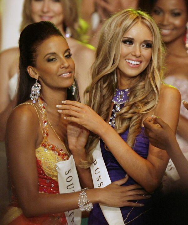 Россиянка Ксения Сухинова завоевала титул Мисс Мира - 2008