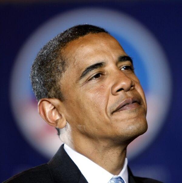 Барак Обама во время выступления перед своими избирателями в Южной Дакоте