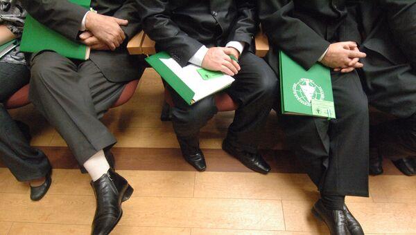 На съезде экологической партии Зеленые. Архивное фото