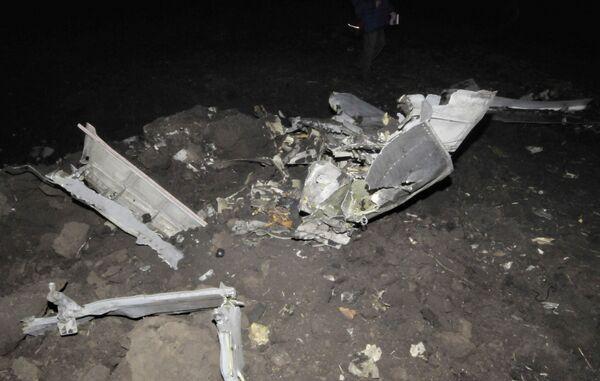Самолет разбился при посадке, не долетев до посадочной полосы чуть более 150 метров