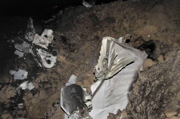 На месте аварии самолета Министерства обороны РФ Су-24М под Воронежем