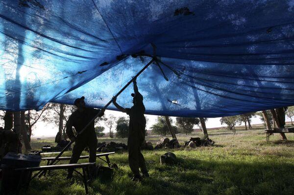 Израильские войска на границе сектора Газа