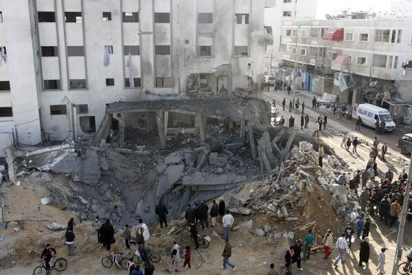 Последствя израильских бомбардировок сектора Газа