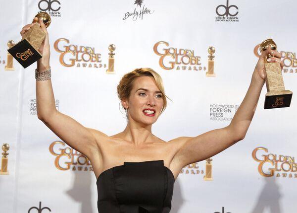 Актриса Кейт Уинслет на церемонии вручения награды Золотой глобус