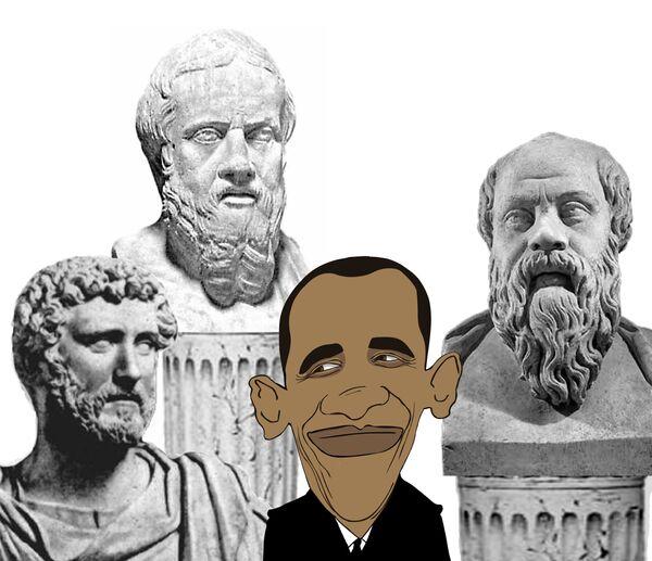 Обама, по мнению наблюдателей, успел окружить себя интеллектуалами, у него даже военно-морской генерал говорит по-французски