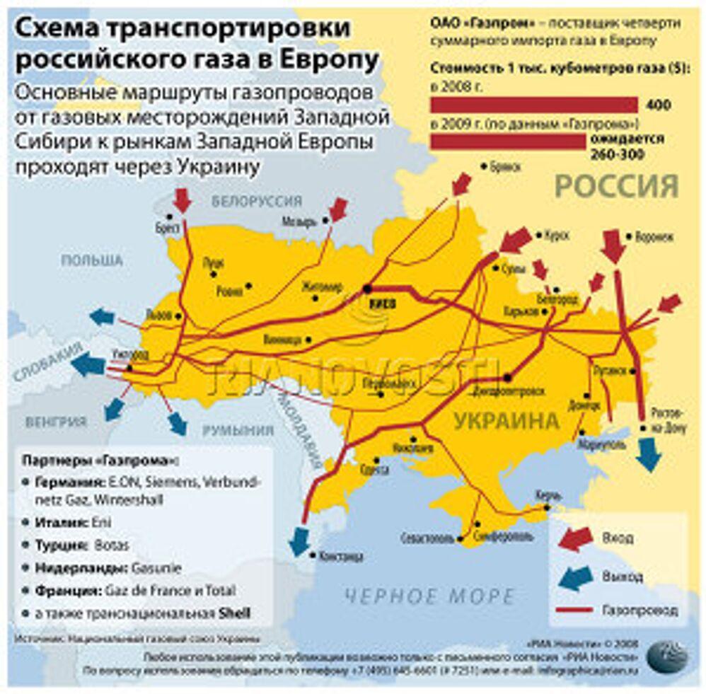 Структура импорта российского газа. Инфографика