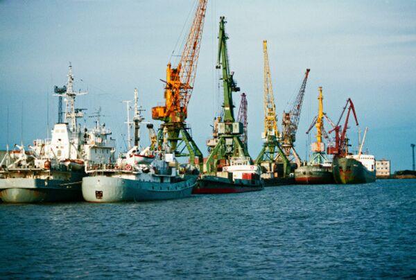 Порт в Хабаровске
