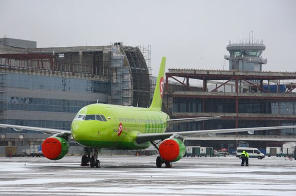 Самолет Airbus-319 авиакомпании Сибирь