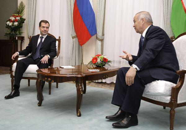 Первый государственный визит Дмитрия Медведева в Узбекистан носил ознакомительный характер