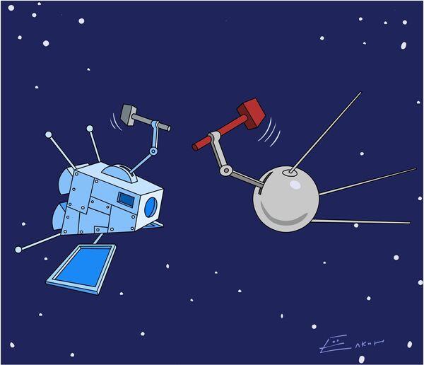 Впервые в истории два крупных космических летательных аппарата - спутники связи - столкнулись на орбите