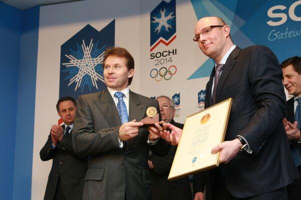 Президент оргкомитета Сочи-2014 Дмитрий Чернышенко и президент Роснефти Сергей Богданчиков подписали соглашение о сотрудничестве
