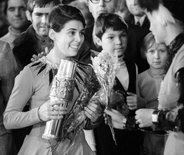 Чемпионка мира, Европы и СССР по фигурному катанию Ирина Роднина