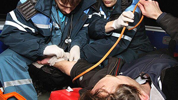 Потерпевшему была оказана медицинская помощь на месте