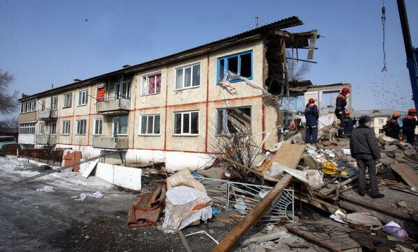 Взрыв газа в жилом доме в Приморье