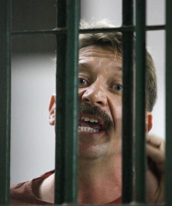 Российский бизнесмен Виктор Бут, арестованный 6 марта 2008 года, по обвинению в торговле оружием