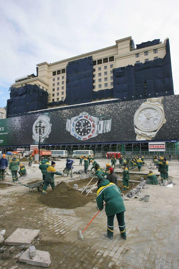Пережившая реконструкцию гостиница Москва