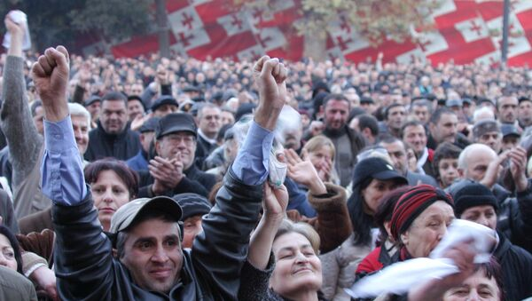 Акция объдиненной грузинской оппозиции прошла в центре Тбилиси
