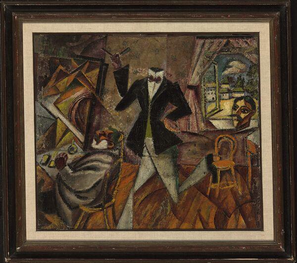 Давид Бурлюк, «Парикмахер без головы», 1912 год