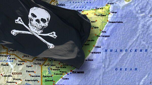 Захваченное пиратами бельгийское судно направляется к берегам Сомали