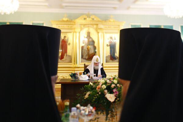 Заседание Священного Синода Русской Православной Церкви. Архив