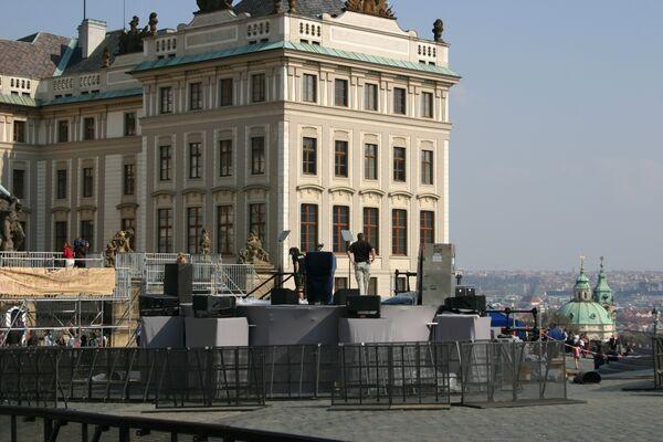 Подготовка к визиту Барака Обамы в Прагу