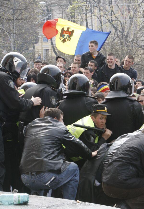 Акция протеста молдавской оппозиции