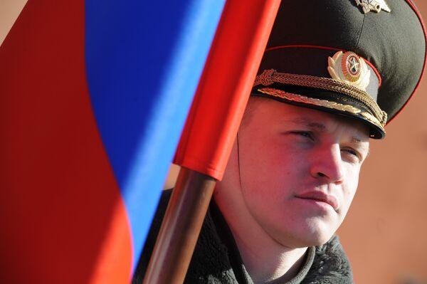 Подготовка парадных расчетов к Параду Победы 9 мая
