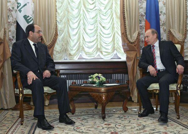 Встреча премьер-министра РФ В.Путина с премьер-министром Республики Ирак Нури Аль-Малики