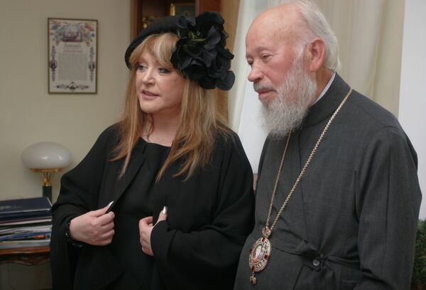 Певица Алла Пугачева и митрополит Киевский и всея Украины Владимир