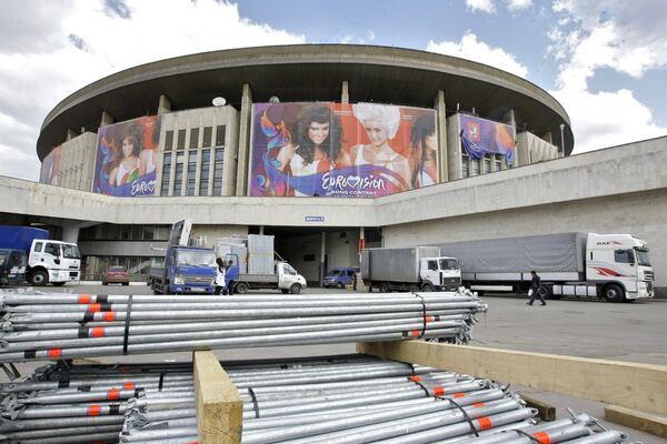 Подготовка СК Олимпийский к Евровидению-2009