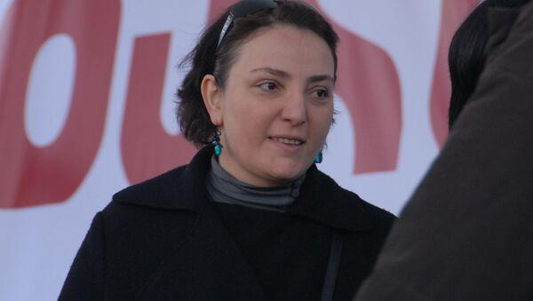 Представительница Альянса за Грузию Тина Хидашели. Архивное фото
