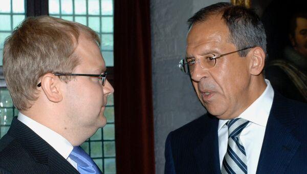 Сергей Лавров и Урмас Паэт. Архивное фото