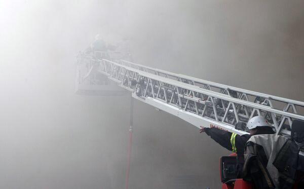 Пожар в театре им.Миронова в Петербурге локализован