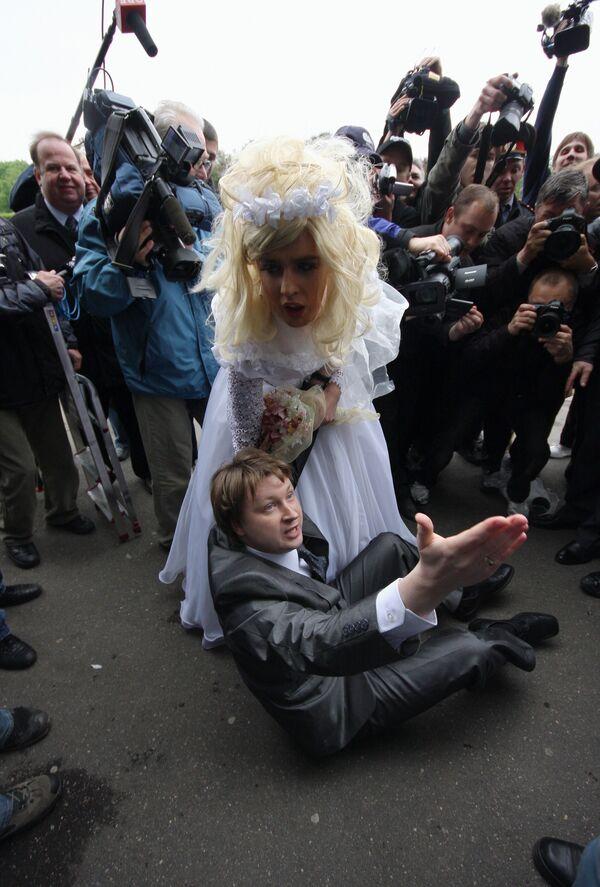 Несанкционированный славянский гей-парад в Москве