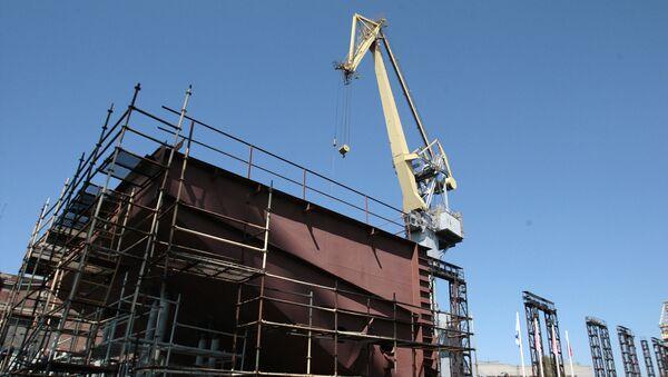 Строительство плавучей атомной электростанции (ПАЭС) в Санкт-Петербурге. Архив
