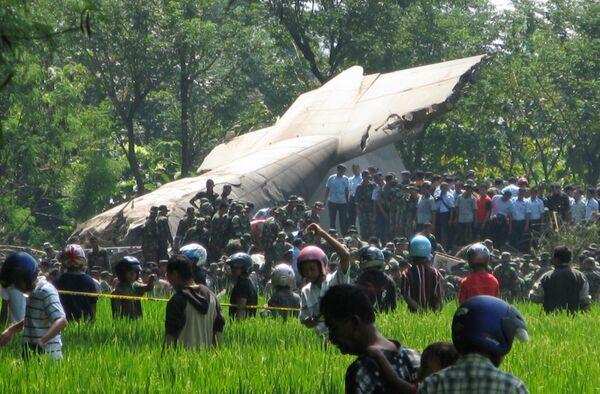 Крушение самолета в Индонезии