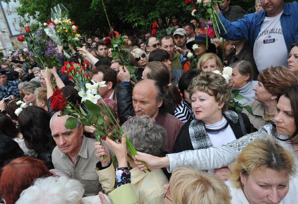 Церемония прощания с Олегом Янковским