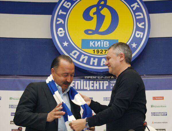 Главный тренер киевского Динамо Валерий Газзаев
