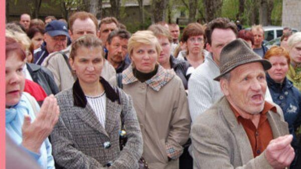 Митинг жителей города Пикалево Ленинградской области