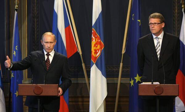 Путин обсудит с премьером Финляндии строительство Северного потока