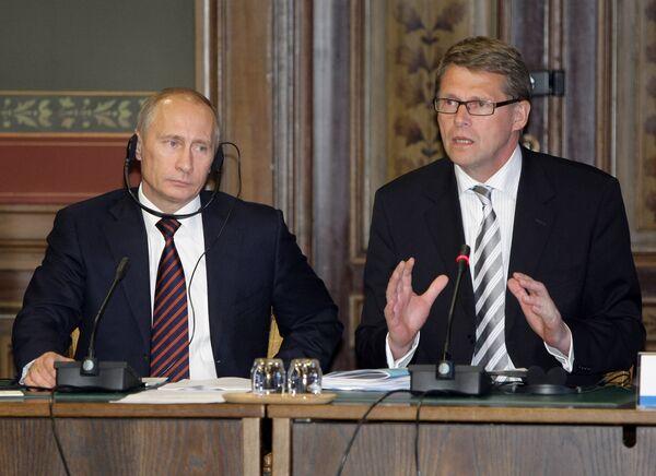 Встреча премьер-министров РФ и Финляндии с представителями деловых кругов двух стран. Архив