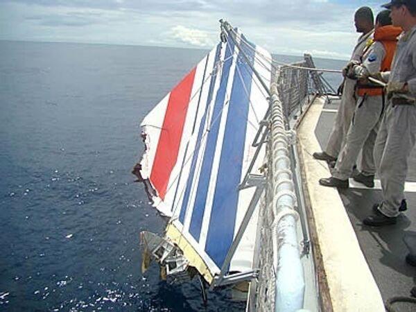 Обломок самолета А330, найденый бразильскими военными
