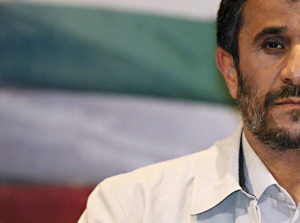 Президент Ирана Махмуд Ахмадинежад во время пресс-конференции