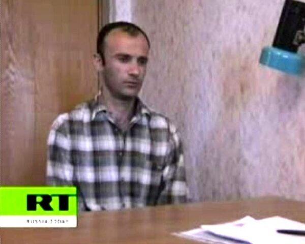 Допрос грузинского офицера, перебежавшего в Россию