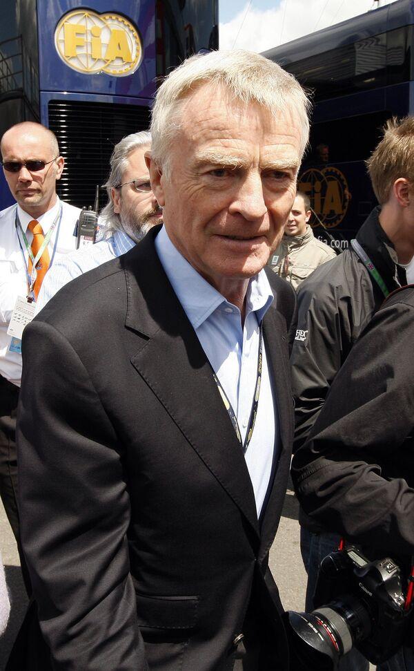 Глава Международной автомобильной федерации (ФИА) Мокс Мосли