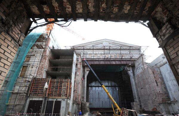 Реставрационные работы в Большом театре в Москве