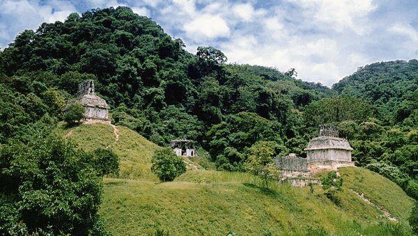 Остатки древнего города индейцев майя в Мексике