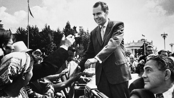 Никсон в СССР. Архивное фото