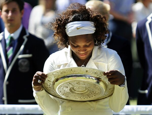 Американка Серена Уильямс в третий раз в своей карьере стала чемпионкой Уимблдонского теннисного турнира