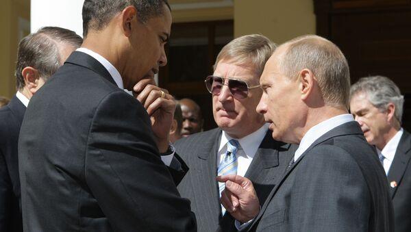 Встреча Владимира Путина и Барака Обама